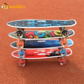 Portable Four Wheeled Skateboard 22in Skateboard Single Mini Board Cruiser Deck