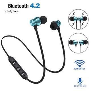 Tai Nghe Nhét Tai Không Dây Kết Nối Bluetooth 4.2 Có Nam Châm Hít Và Phụ Kiện