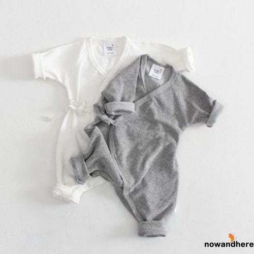 Jumpsuit tay dài chất Cotton mềm mại cho trẻ sơ sinh