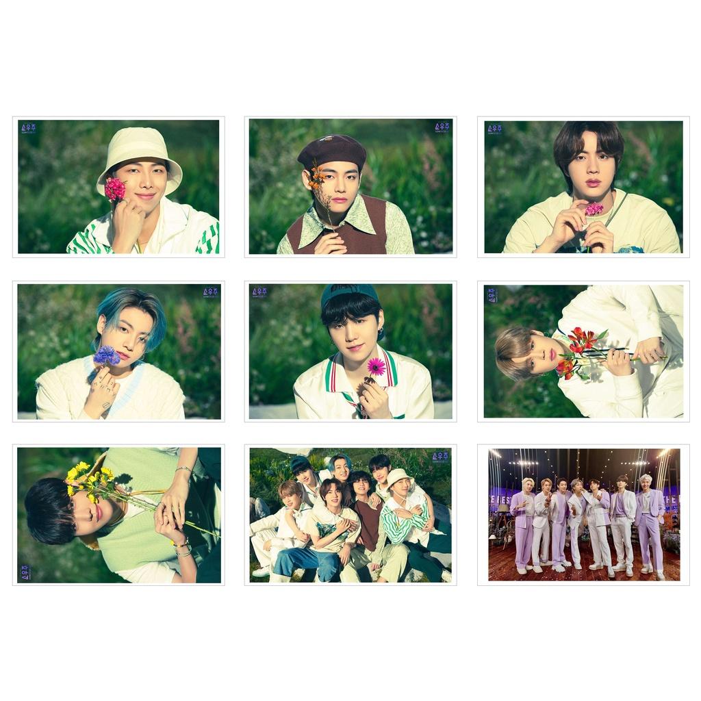 [Ép Lụa] Lomo Card 63 Ảnh BTS - SOWOOZOO