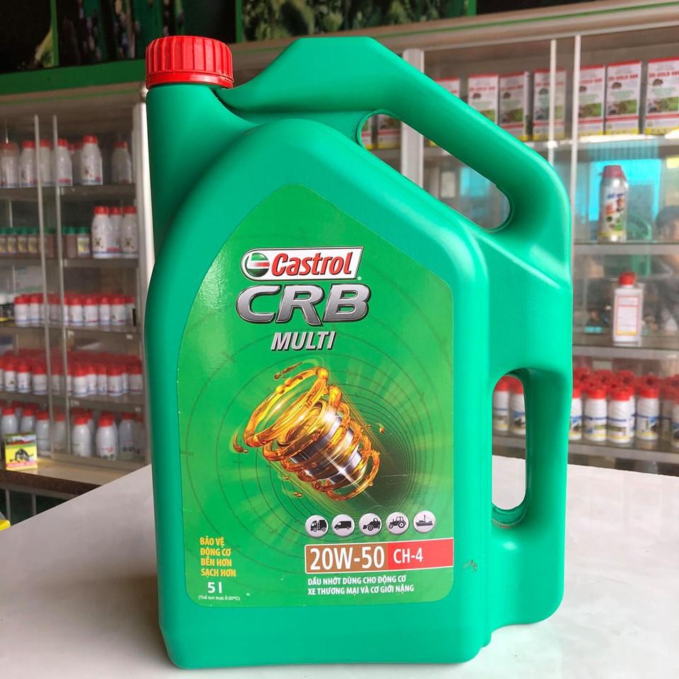 Nhớt động cơ ôto castrol CRB 5L