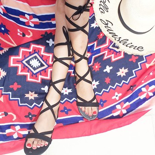 sandal dây dài chiến binh - Boho Vintage Style