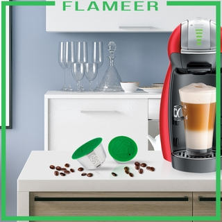 [FLAMEER]Metal Reusable Coffee Capsules Cup Coffee Pods for DolceGusto