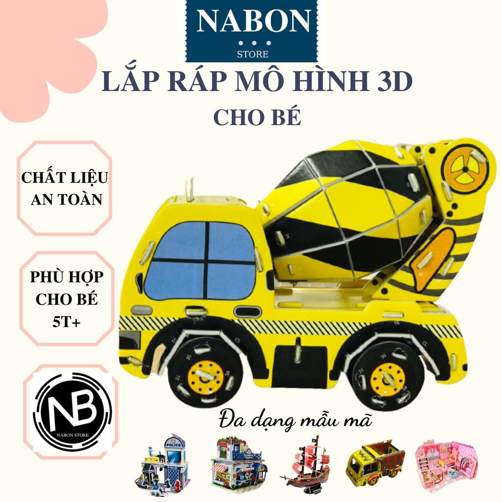 Bộ Xếp Hình Cho Bé, Lắp Ráp Mô Hình 3D Phát Triển Kỹ Năng Khéo Léo Rèn Sự Tập Trung – NABON STORE