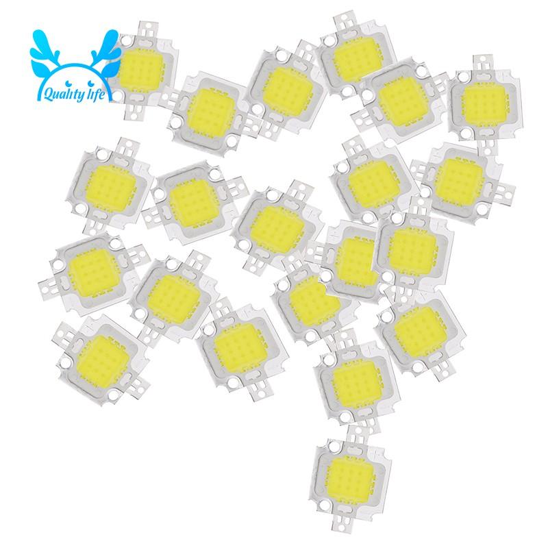 Set 20 đèn LED ánh sáng trắng 10W 1100lm DC 9-12V