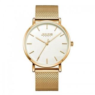 [Mã FARSBR153 giảm 15% đơn 150K] Đồng hồ nam Julius Hàn Quốc JA-1164MF dây thép (vàng)