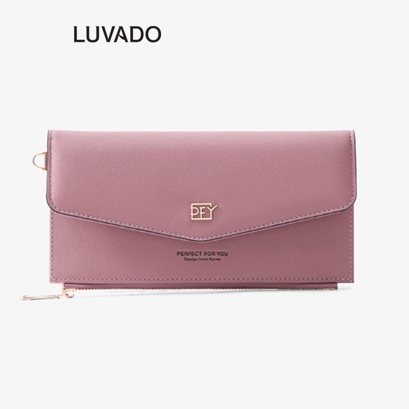 Ví nữ dáng dài cầm tay cao cấp PERFECT FOR YOU nhiều ngăn thời trang đựng tiền đẹp LUVADO VD321