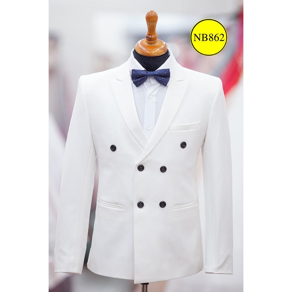 áo vest nam - suit luxury dòng 6 nút