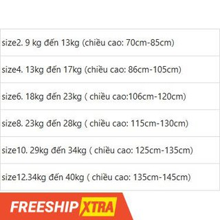 🎁(💥SIÊU SALE 49%🔥😮 ) đầm bé gái trắng đuôi ren đen cao cấp 10kg -40kg 😍💃