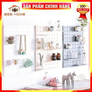 [FreeShip_Hàng Loại 1] Giá dán tường để đồ, tấm nhựa có lỗ để trang trí, kệ để trang trí kệ để gổ treo tường .