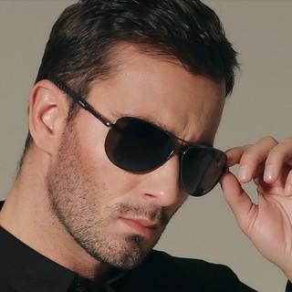Đôi kính mát gọng kim loại phân cực thời trang cho nam