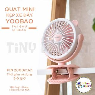 Yêu Thích[Flash Sale 179K] Quạt mini kẹp xe đẩy Yoobao Q Bear tai gấu pin sạc 3-5h