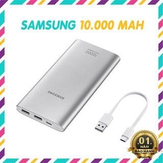 Sạc Dự Phòng Samsung Fast Charger EB-P110 10.000mAh 2 Cổng USB + 1 Type-C – Chính Hãng BH 12 Tháng