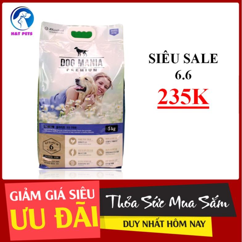 [5kg] THỨC ĂN HẠT CHO CHÓ DOG MANIA HÀN QUỐC ( thức ăn khô,thức ăn hạt, cám chó)