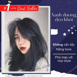 Thuốc nhuộm tóc màu XANH DƯƠNG ĐEN KHÓI