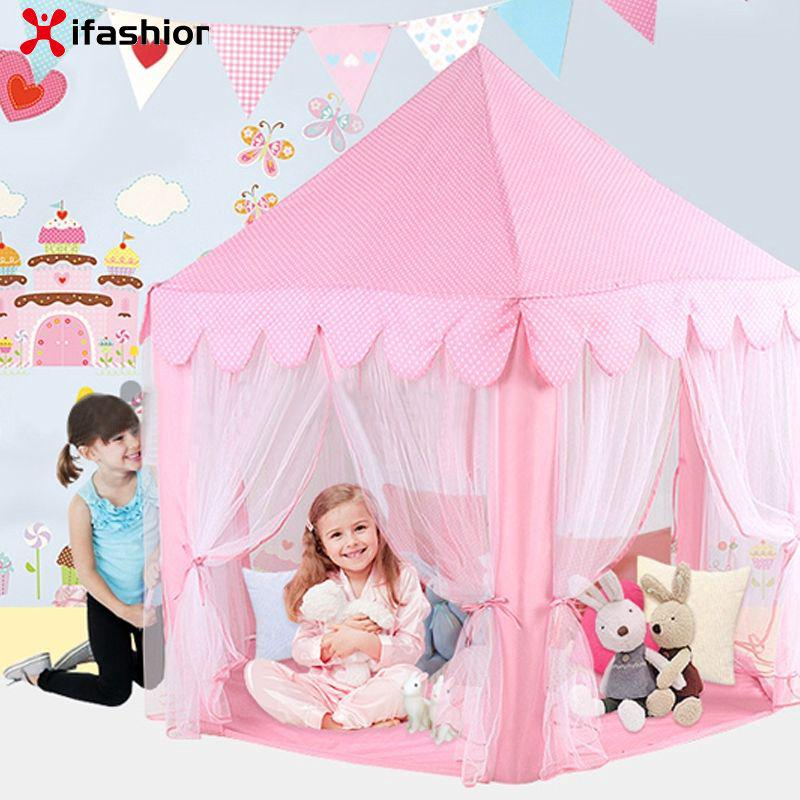 Anti-mosquito Oversized Gauze Hexagonal Princess Castle Children Game Tent IFAS