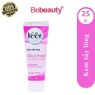 Kem tẩy lông dịu nhẹ cho da thường Veet Silk & Fresh 25g <2200845>
