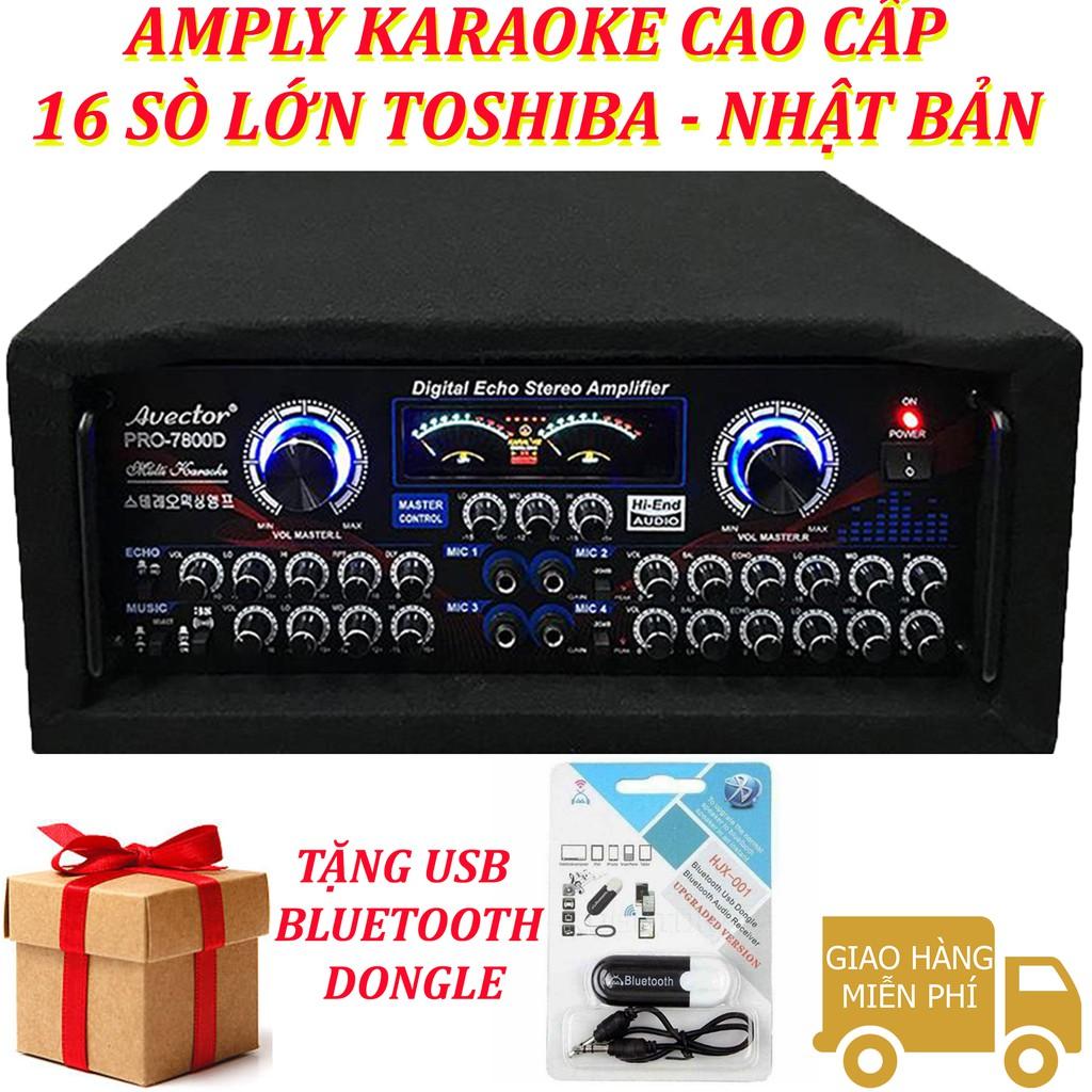 Amply karaoke gia đình - amply karaoke sân khấu - amply karaoke công suất lơn Avector 7800D Tặng usb bluetooth DONGLE