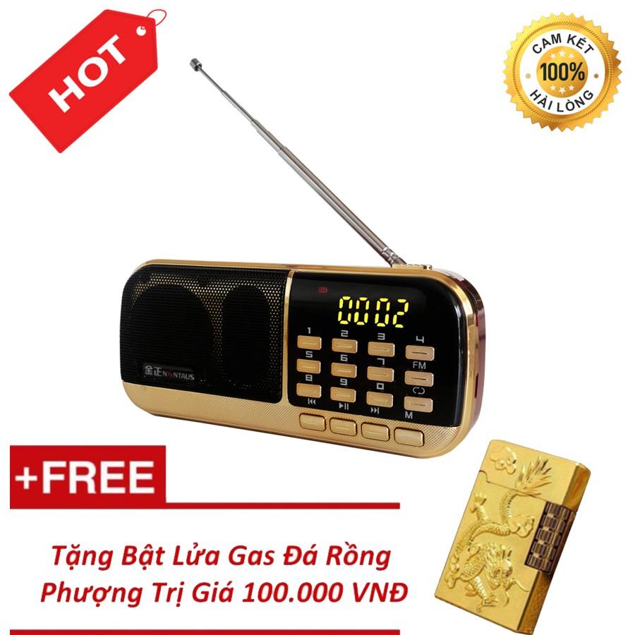 Đài Radio MP3 USB, máy nghe nhạc cầm tay Walkman - B871 + Tặng BL Ga Đá Rồng Phượng
