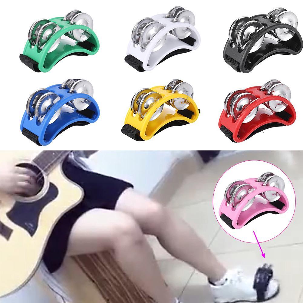 Percussion Musical Instrument Foot Plastic Tambourine Bell Metal Jingle
