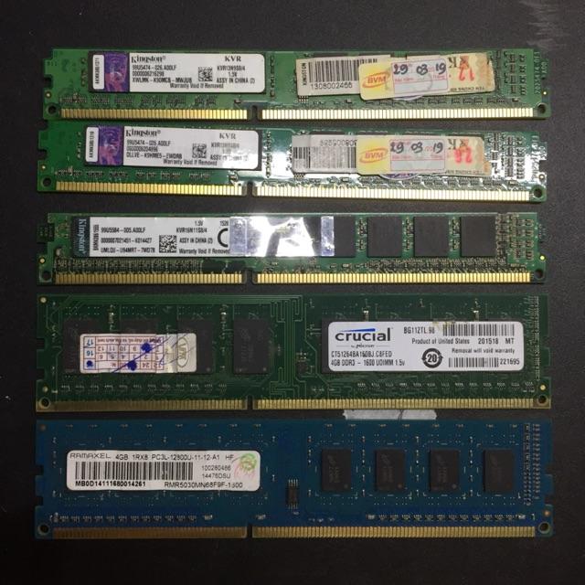 Ram ddr3 máy bàn 4gb