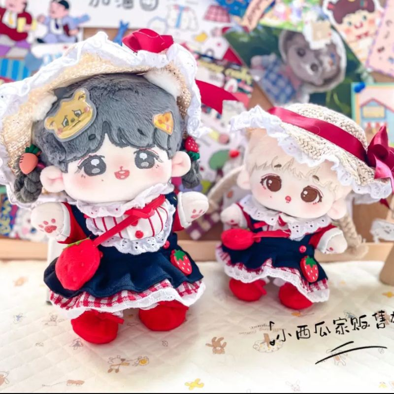 Outfit doll 15/20cm Set Váy Dâu Tây (71)