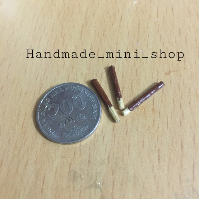 (1:12) 3 bánh que socola-miniature, handmade, phụ kiện búp bê