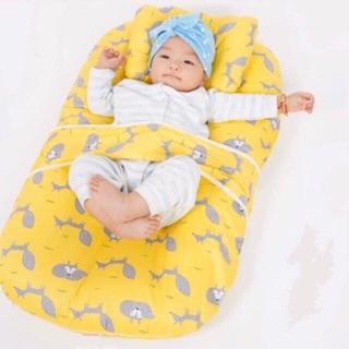 Đệm ngủ thông minh có vỏ tặng gối và đai an toàn cho bé