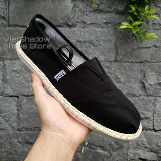 Slip on cói nam - Giày lười vải nam cao cấp - Vải thô 3 màu đen, xám và trắng ngà - Mã SP 2929 thumbnail