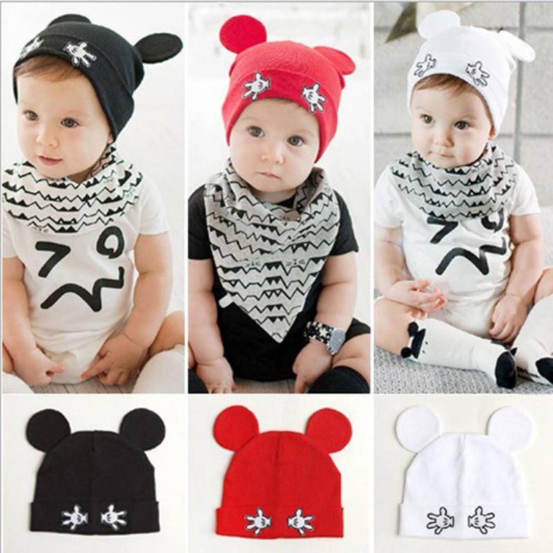 Mũ cotton tai thỏ dễ thương cho em bé
