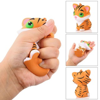 WX_Squishy Simulated Tiger Slow Rising Kids Children Squeeze Toys Stress Reliever