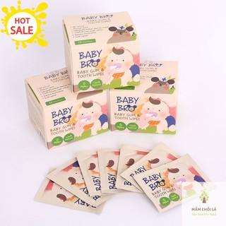 Khăn lau răng cho bé Gạc lau răng Babybro Hàn Quốc cho trẻ dưới 6 tuổi [khan lau rang] thumbnail