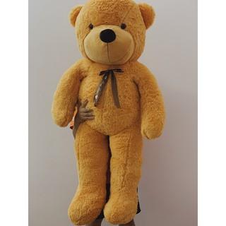 [Gấu bông Cao cấp] – Teddy Lông Xù Nơ Ruy băng size 1m4