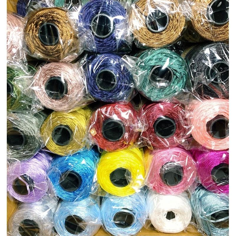 Sợi dệt bóng ribbon yarn craft - 140g - Bảng màu 3