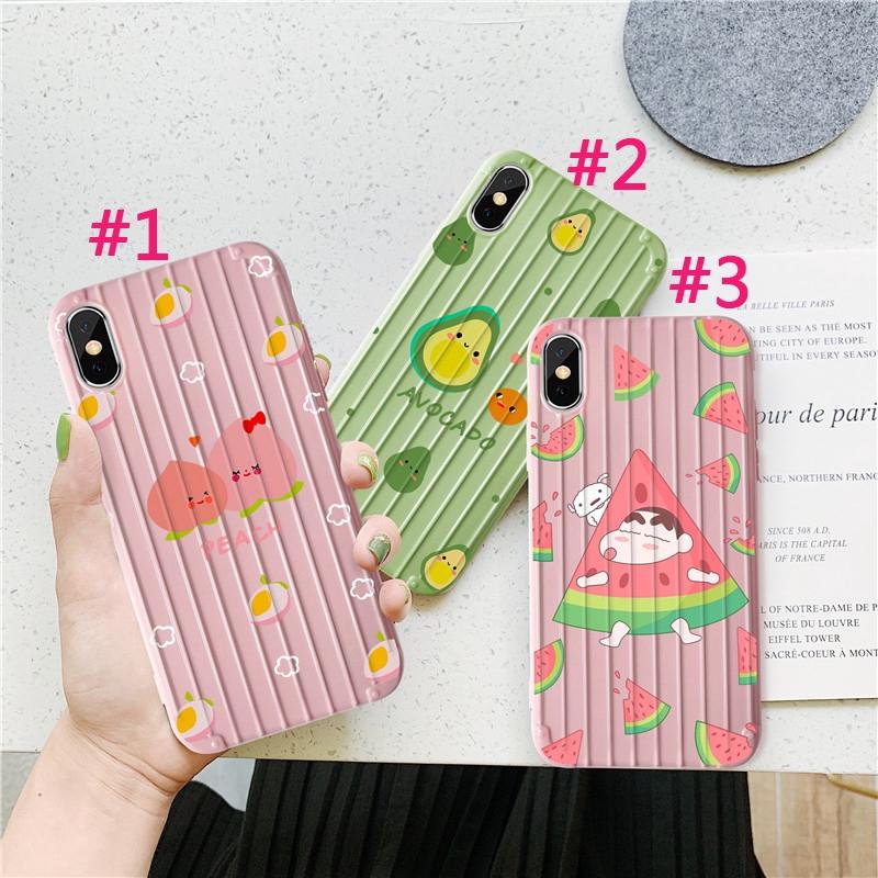 Ốp điện thoại TPU + Silicone vân nổi in hình đáng yêu cho iPhone 6 6s 7 8 6plus 8plus XR X XS XSMax