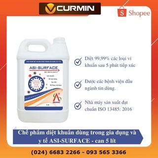 Dung dịch khử khuẩn bề mặt dùng trong gia dụng và y tế ASI SURFACE can 5 lít (Chính hãng) thumbnail