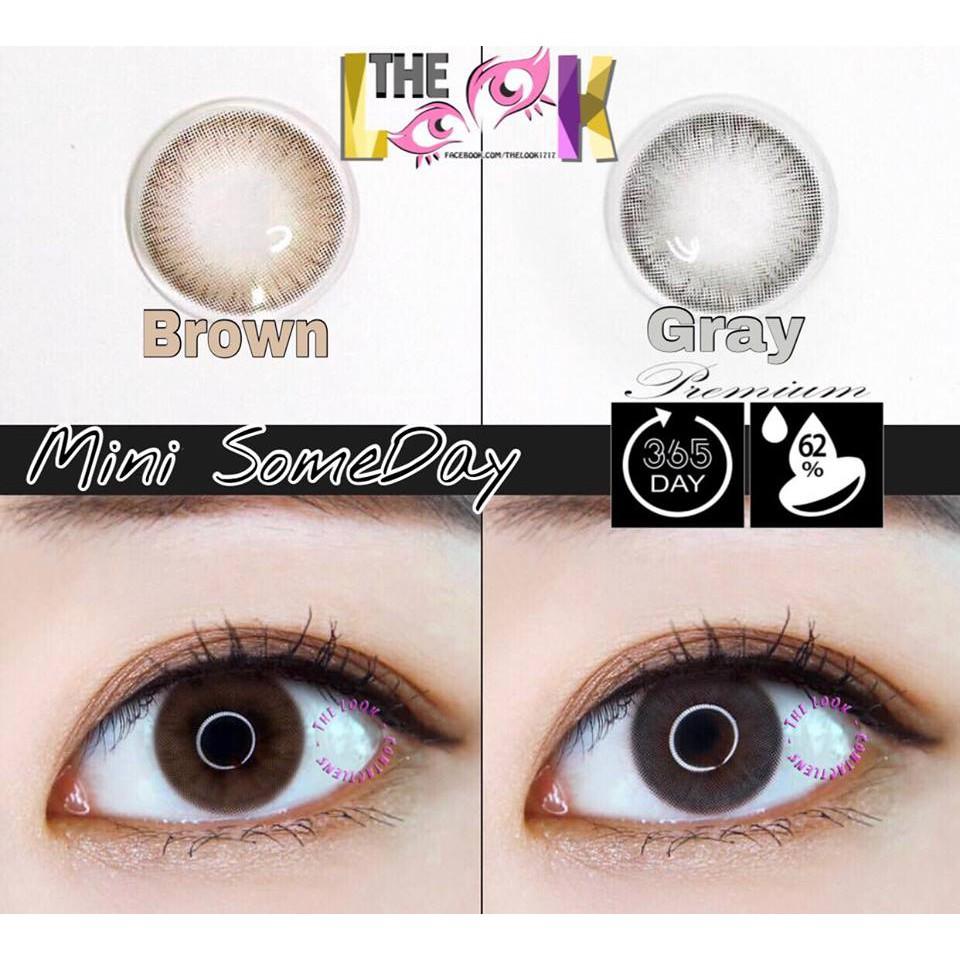 Kính áp tròng#MiniSomeDay - Gray(Có 0-10- lệch độ)