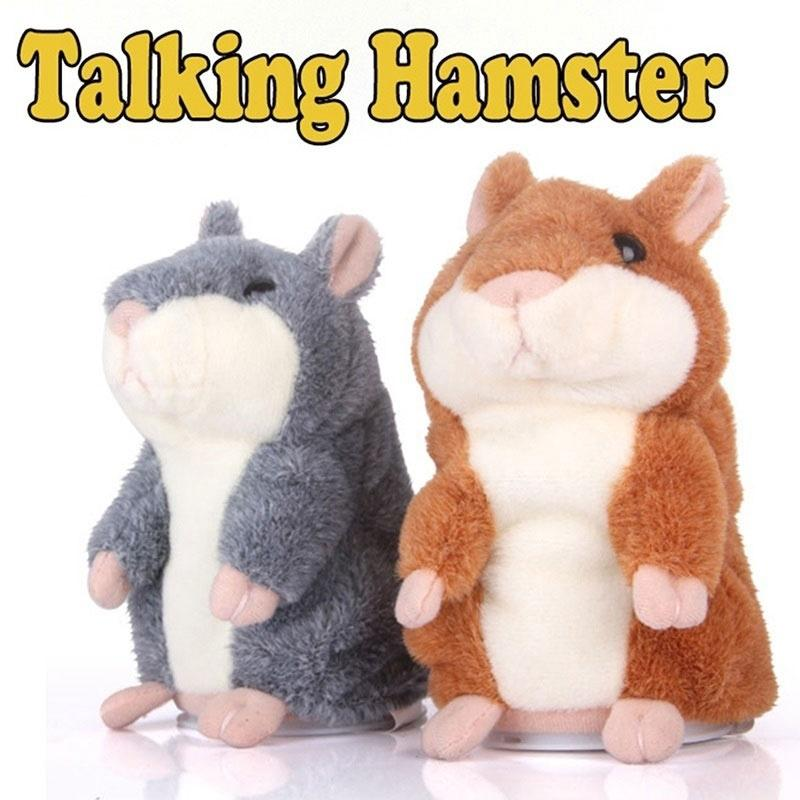 1pcs High Quality Talking Hamster Pet Plush Toy Repeat What You Say Educational Toy for Children Gift