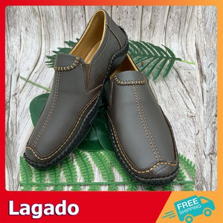 [HỖ TRỢ SHIP] GIÀY LƯỜI NAM P1 TRƠN DA BÒ THẬT - Giày da nam bền đẹp thiết kế ấn tượng nổi bật