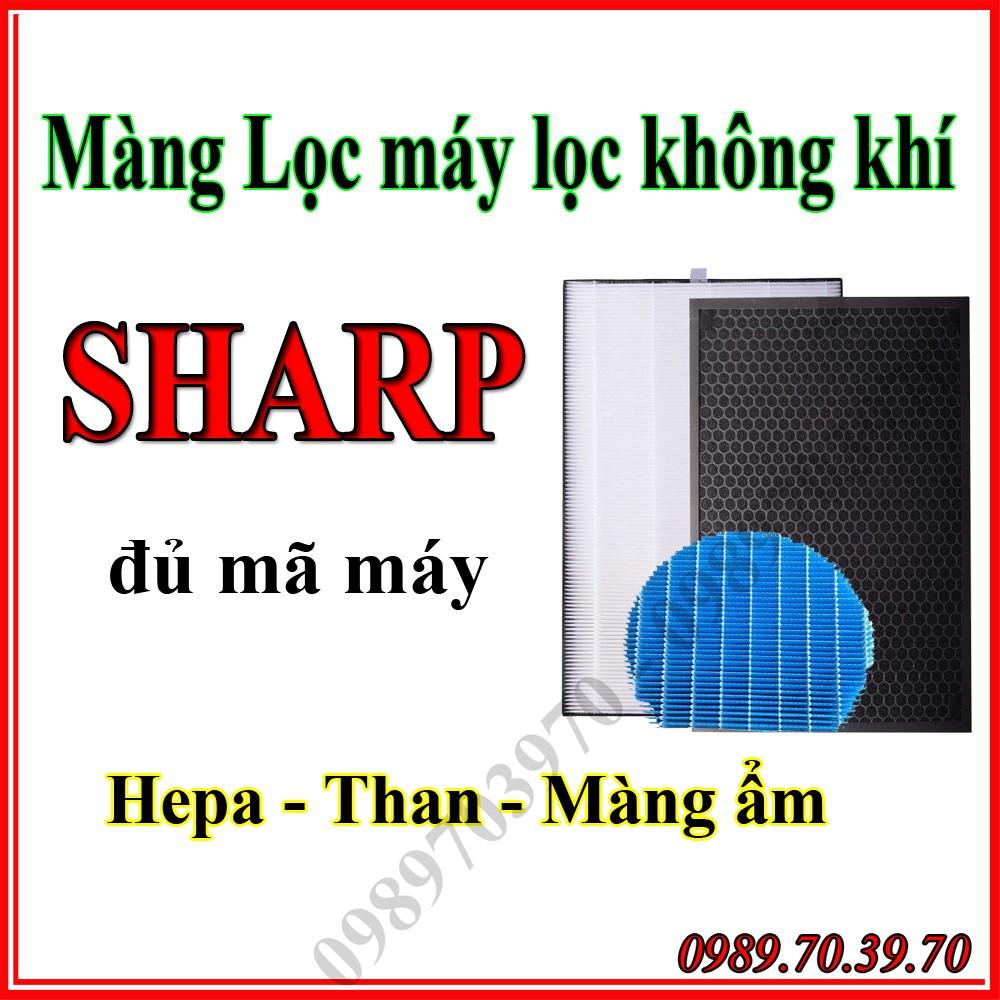 Màng lọc máy lọc không khí Sharp nội địa Nhật màng lọc than, màng lọc hepa (  đủ mã cho máy Sharp )