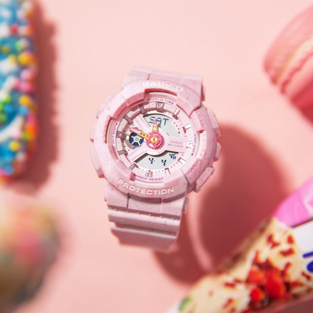 [Mã FABRR5503 giảm 20% đơn 249K] Đồng hồ nữ dây nhựa Casio Baby-G chính hãng Anh Khuê BA-110PI-4ADR