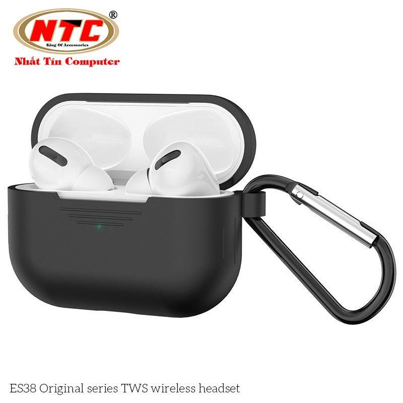 Tai nghe đôi Bluetooth True Wireless Hoco ES38 V5.0 Hỗ trợ sạc không dây Kèm case silicon