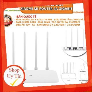 [SALEOFF] [Bản quốc tế] Bộ Phát Sóng Wifi Xiaomi Mi Router 4A Gigabit 128MB DDRB, tốc độ tối đa 1167Mbps – Bảo hành 12 t
