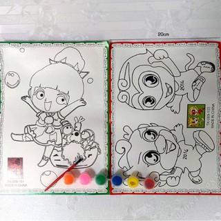 Bộ Tranh Tô Màu Nước Cho Bé Học Vẽ