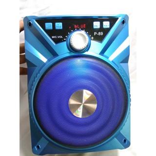 Loa Karaoke Bluetooth với thiết kế nhỏ gọn âm hay + 1 Micro có dây KP90088
