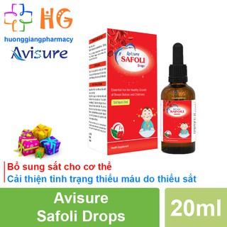 Siro Avisure Safoli Drops - Sắt hữu cơ cho bé, bổ sung sắt, hỗ trợ giảm tình trạng thiếu máu, giảm mệt mỏi ở trẻ thumbnail