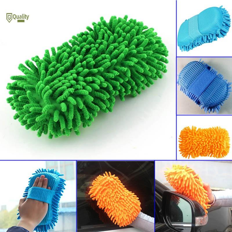 ❤JVN❤ Microfiber Chenille Anthozoan Car Cleaning Sponge Towel Cloth Car Clean Tools