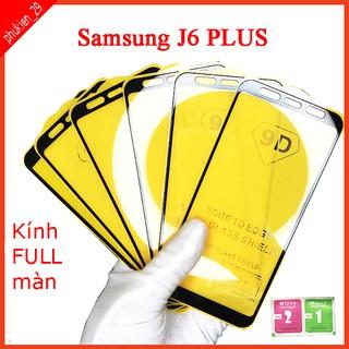 Kính cường lực Samsung J6 Plus full màn hình, Ảnh thực shop tự chụp, tặng kèm bộ giấy lau kính taiyoshop2 thumbnail