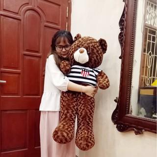 Gấu bông Teddy Cao Cấp khổ vải 1m Cao 80cm