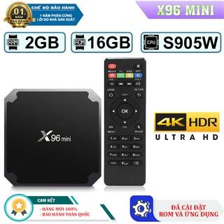[Mã ELMS5 giảm 7% đơn 300K] Android TV Box X96 Mini Hệ Điều Hành Ram 2GB- Rom 16Gb